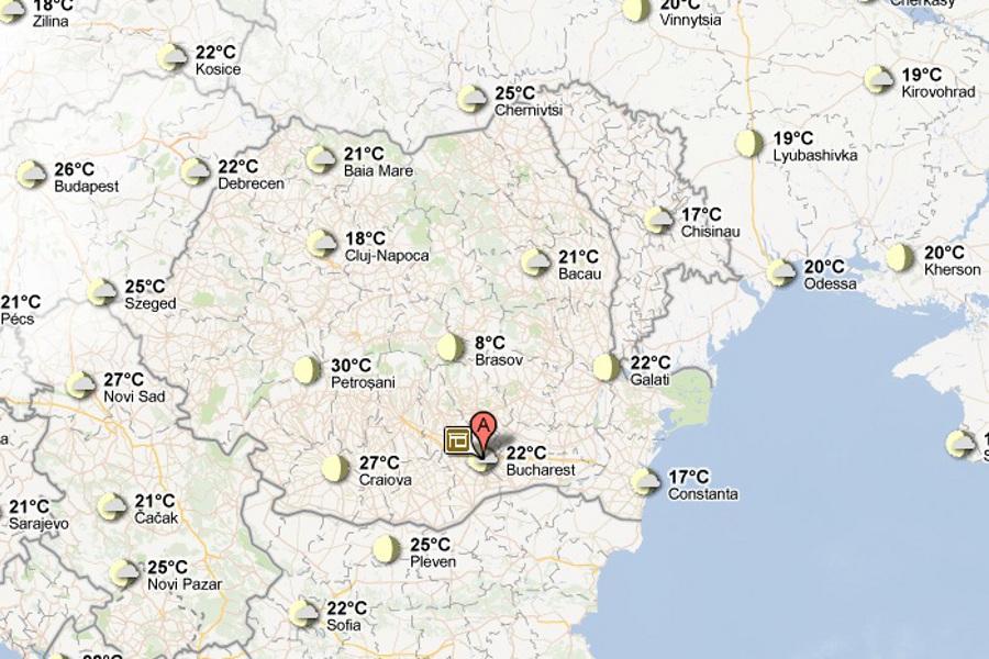 Google Maps ne anunţă cum e vremea