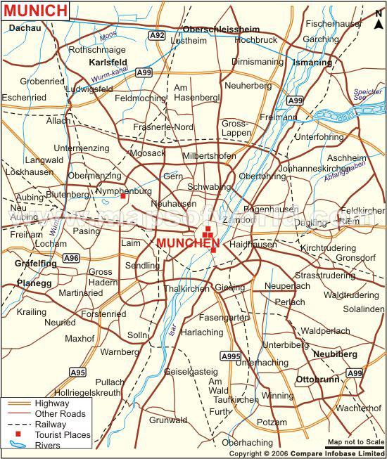 Hartă Tursitica Munchen