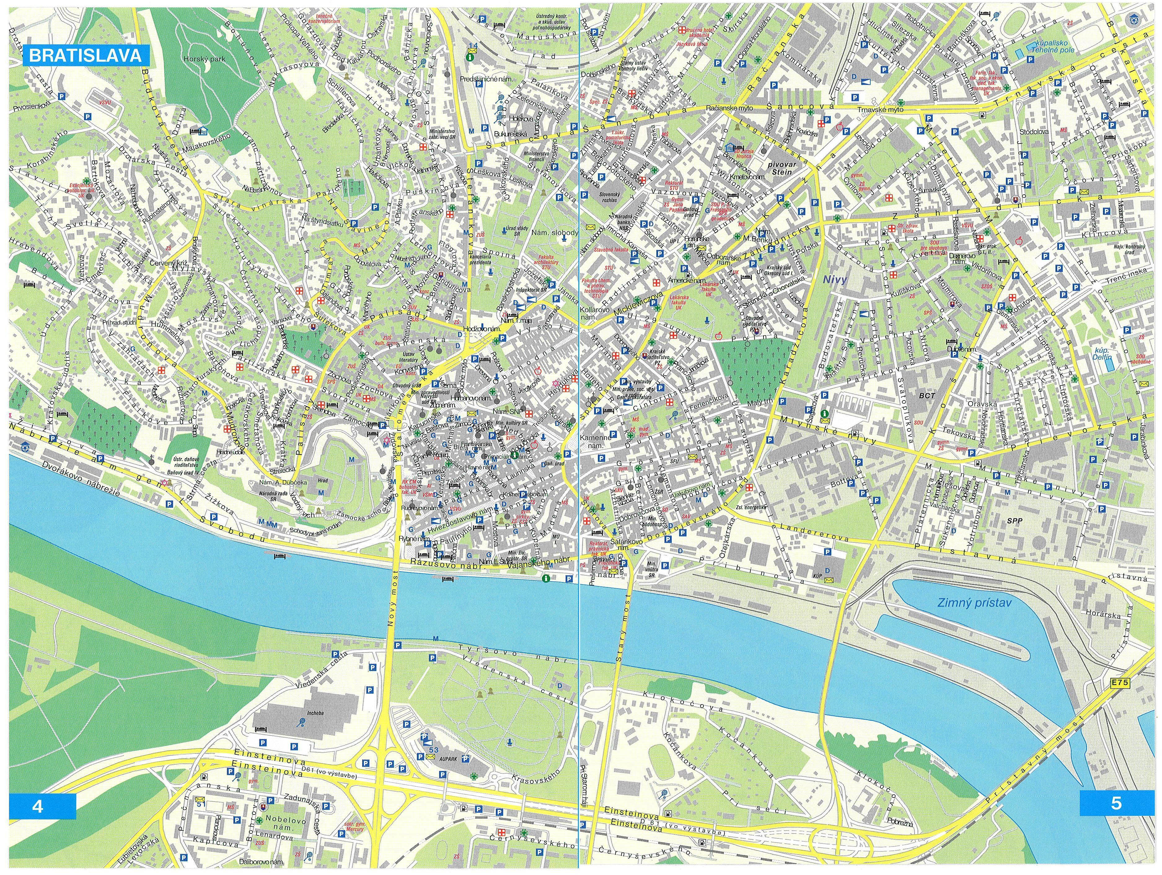 Hartă turistică Bratislava