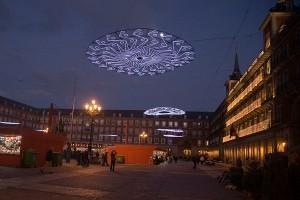 Lumini de Craciun in Plaza Mayor