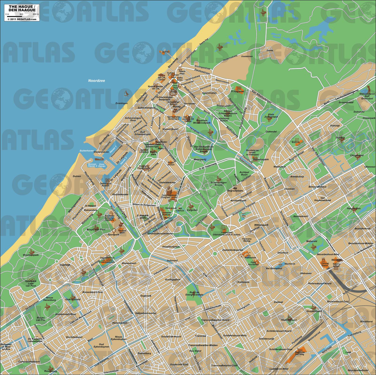 Harta turistică Haga