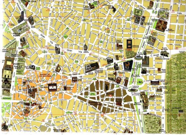 Hartă turistică, Madrid