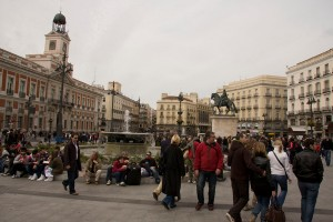 turisti in Madrid