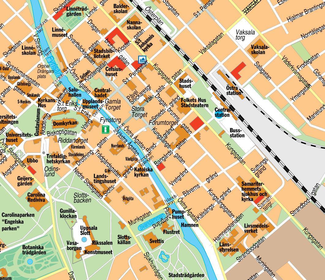 Hartă turistică Stockholm