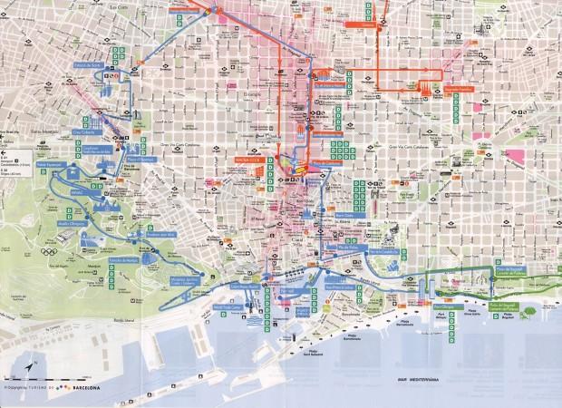Harta turistica Barcelona