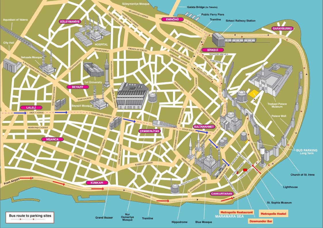 Hartă turistică Istanbul