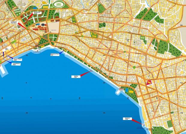 Harta turistica Salonic