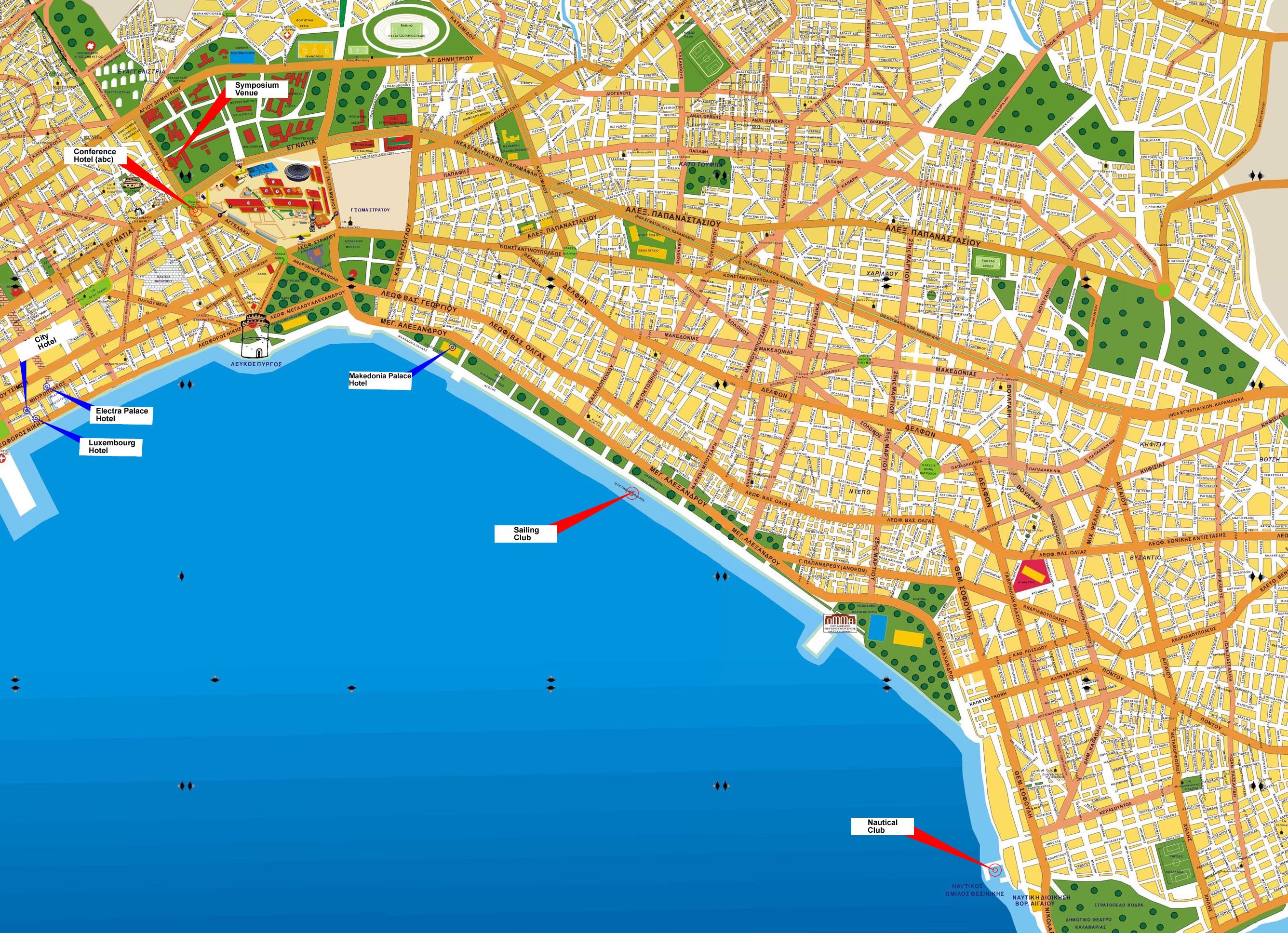 Hartă turistică Salonic