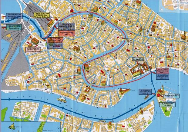 Harta turistica Venetia