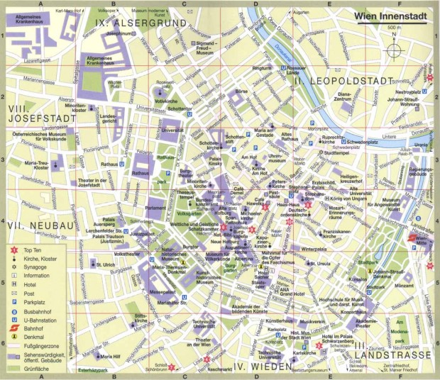 Harta turistica Viena