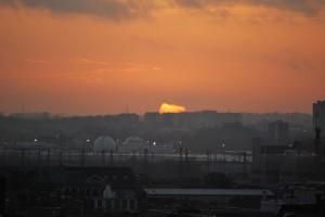 Apus de soare peste Bruxelles