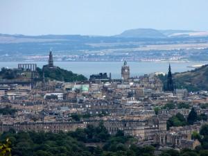 Edinburgh văzut de sus