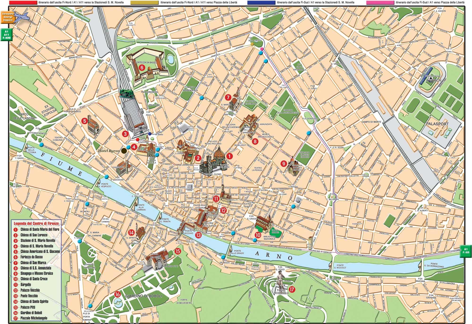 Hartă turistică Florenţa