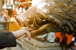 Statuia care te asigura ca vei reveni in Florenta