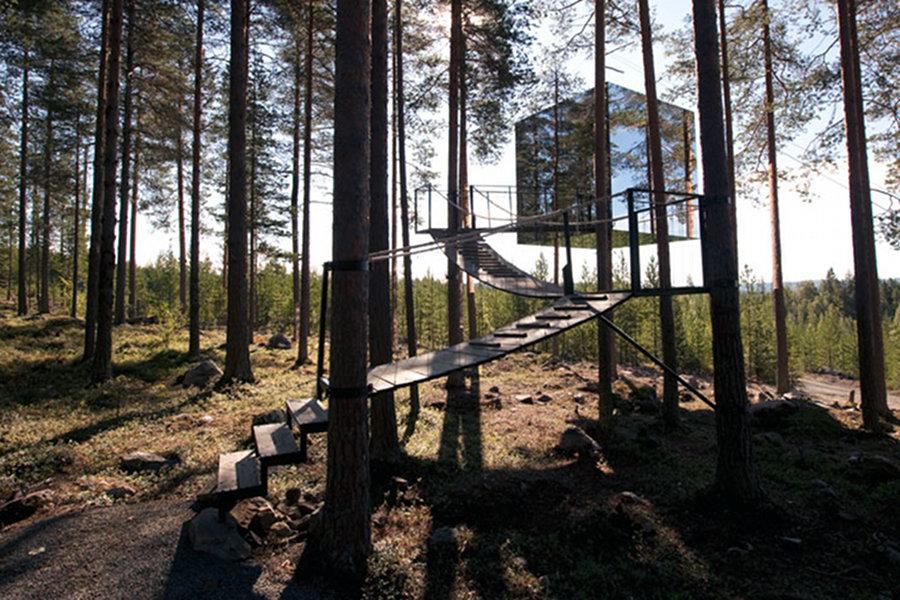 Căsuţa din copac devine hotel în Suedia