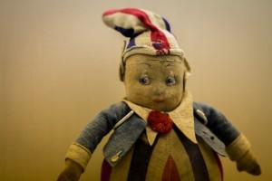 Una dintre papusile de la Muzeul Copilariei