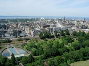 Vedere de sus a Edinburgh-ului