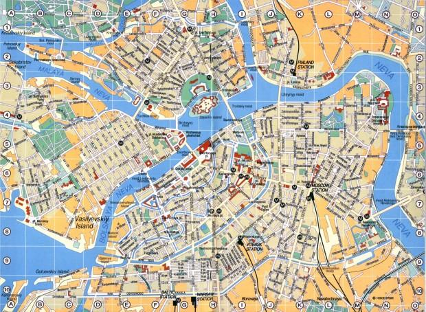 Hartă turistică Sankt Petersburg