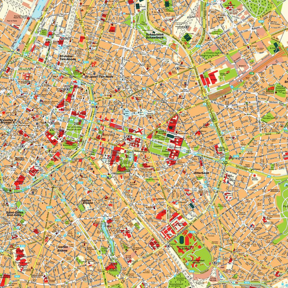 Hartă turistică Bruxelles