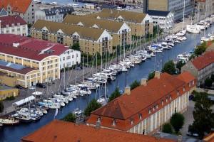 O parte din orasul Copenhaga