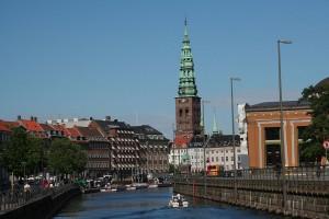Vedere a canalelor din Copenhaga