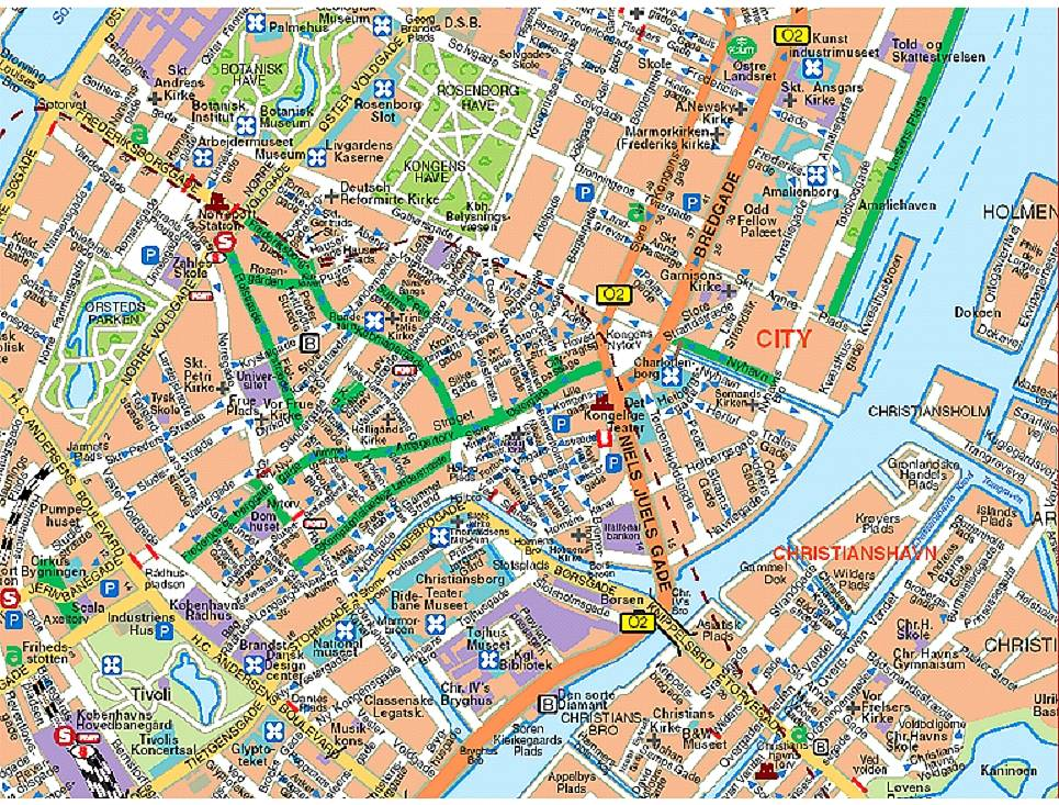 Hartă turistică Copenhaga
