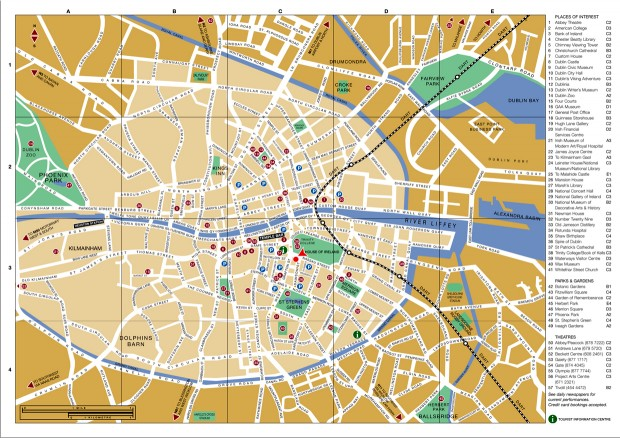 Harta turistică Dublin