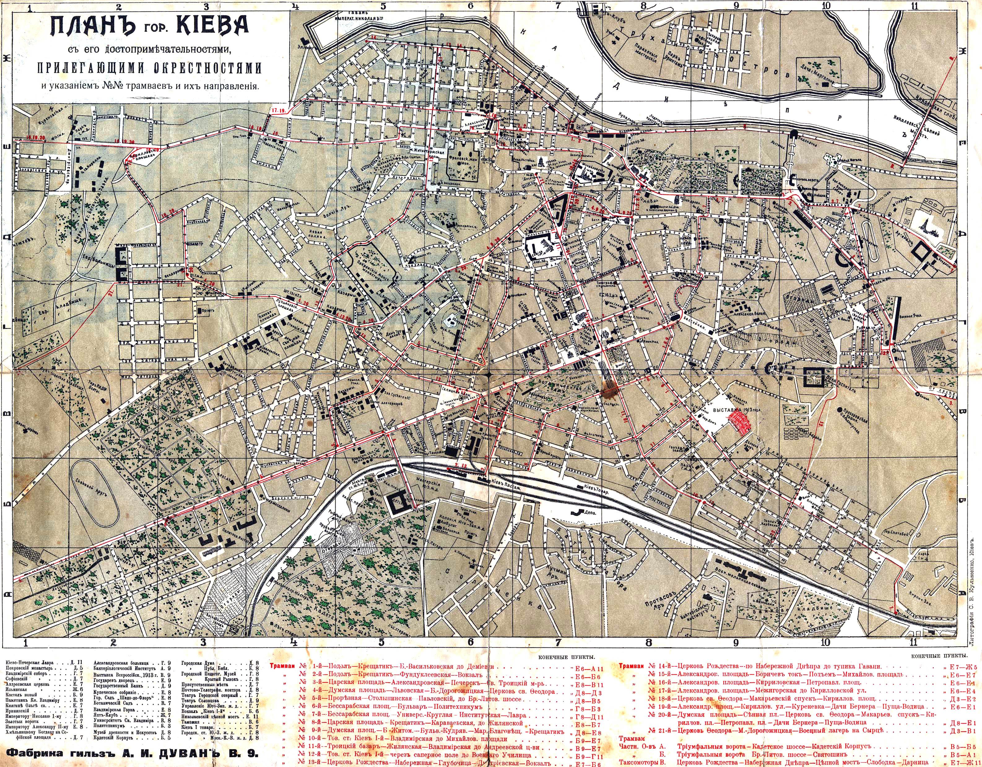 Hartă turistică Kiev