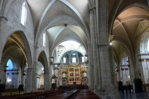 Interiorul catedralei din Valencia