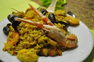 Traditionala paella