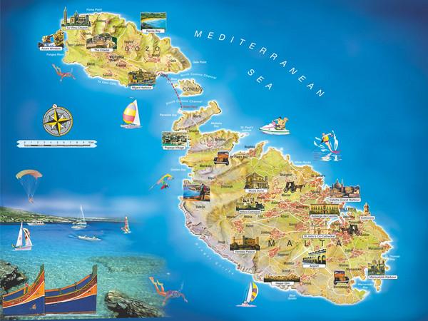 Hartă turistică Malta