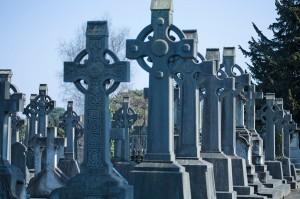O parte din Cimitirul Glasnevin al Dublinului