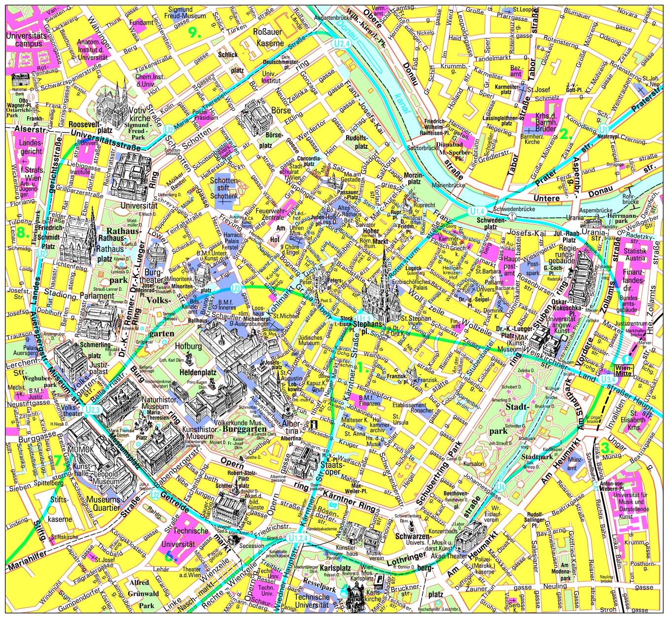 Hartă turistică Salzburg