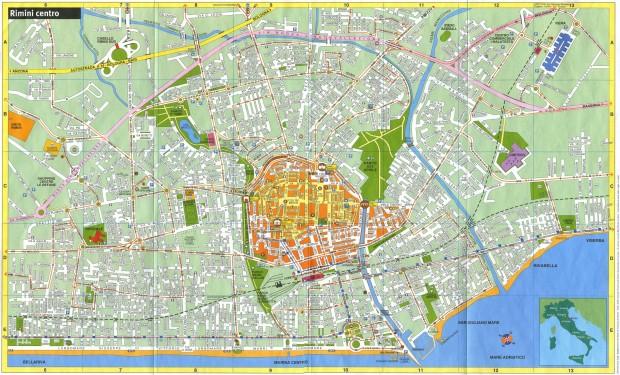 Harta turistica Rimini
