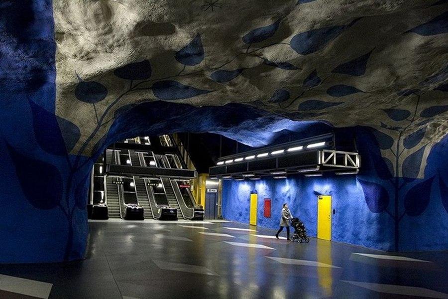 Galeria de artă din metrou, la Stockholm [foto&video]