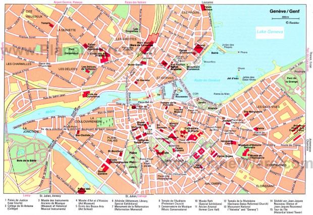 Harta turistica Geneva