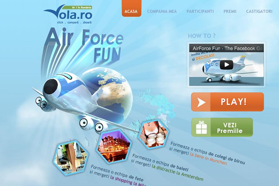 Te joci cu AirForce Fun şi câştigi un city break plus multe alte premii