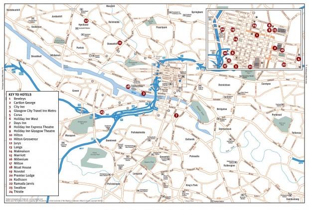 Harta turistica Glasgow