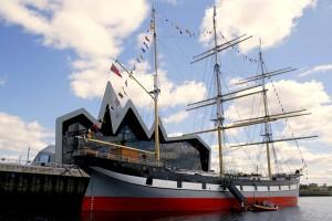 Nava din Portul Glasgow