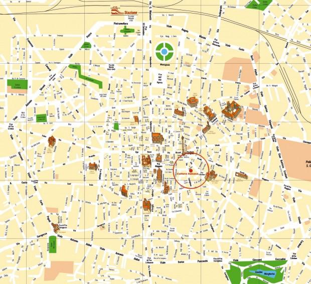 Harta turistica Bologna