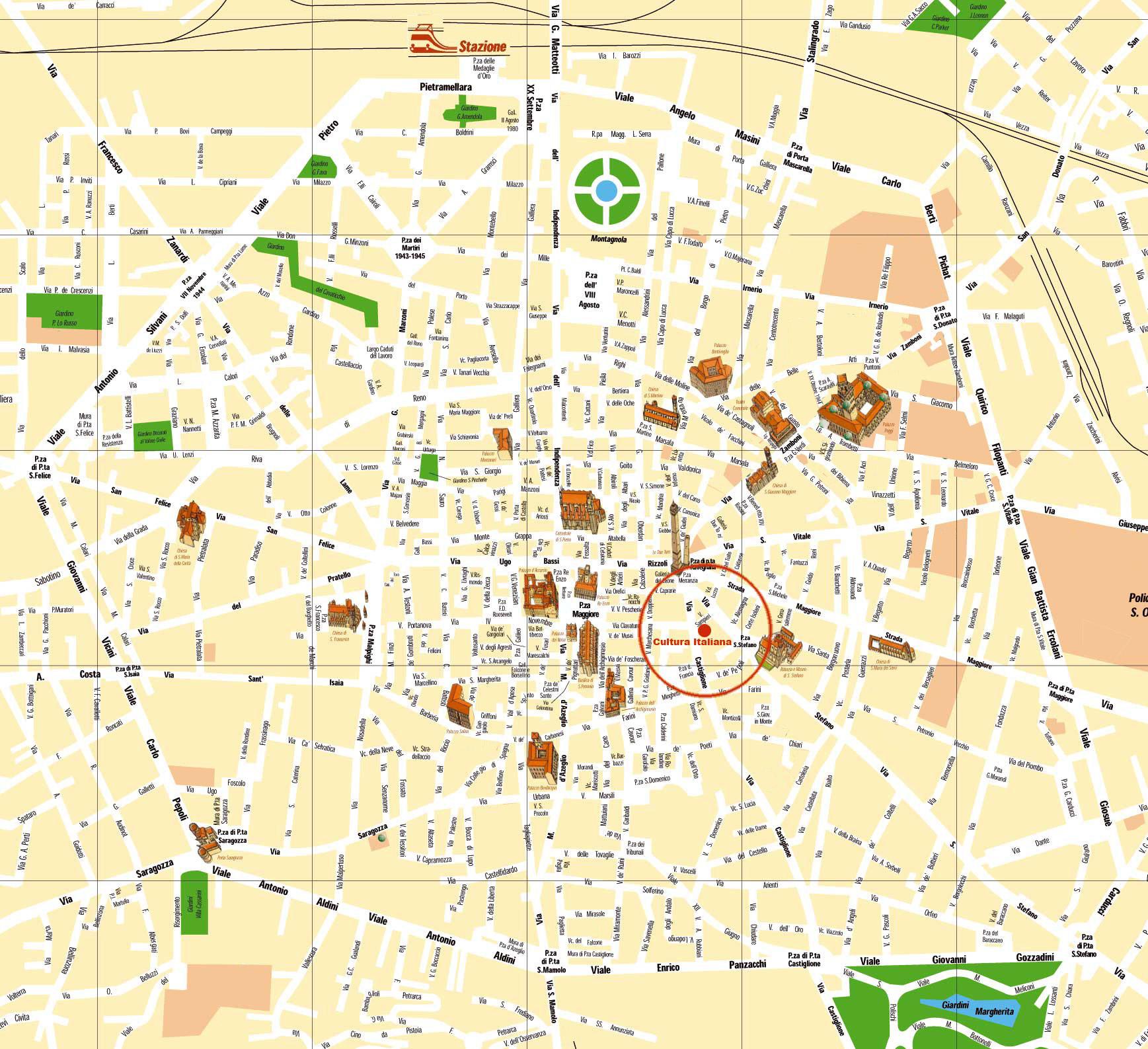Hartă turistică Bologna