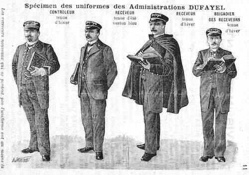 Aşa arătau uniformele colectorilor de credite